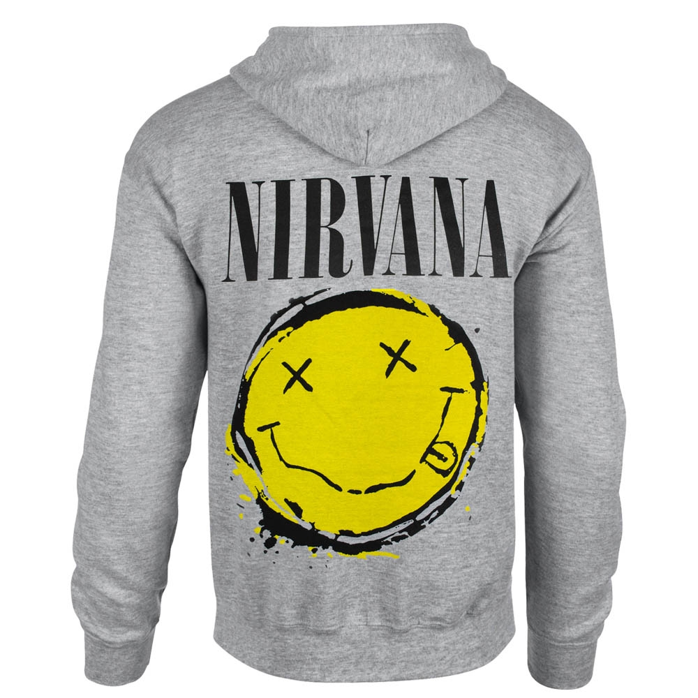 толстовка на змейке NIRVANA Smiley меланжевая 0
