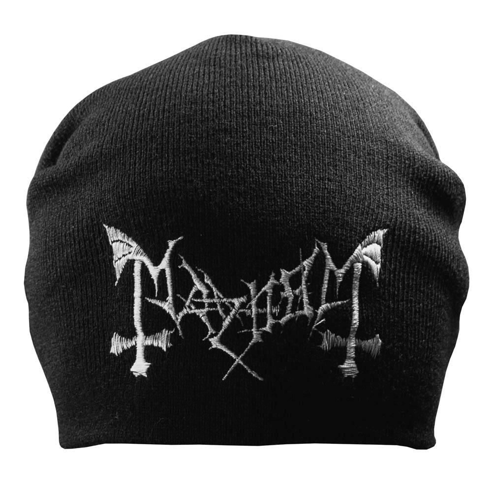 шапка бини с вышивкой MAYHEM 0