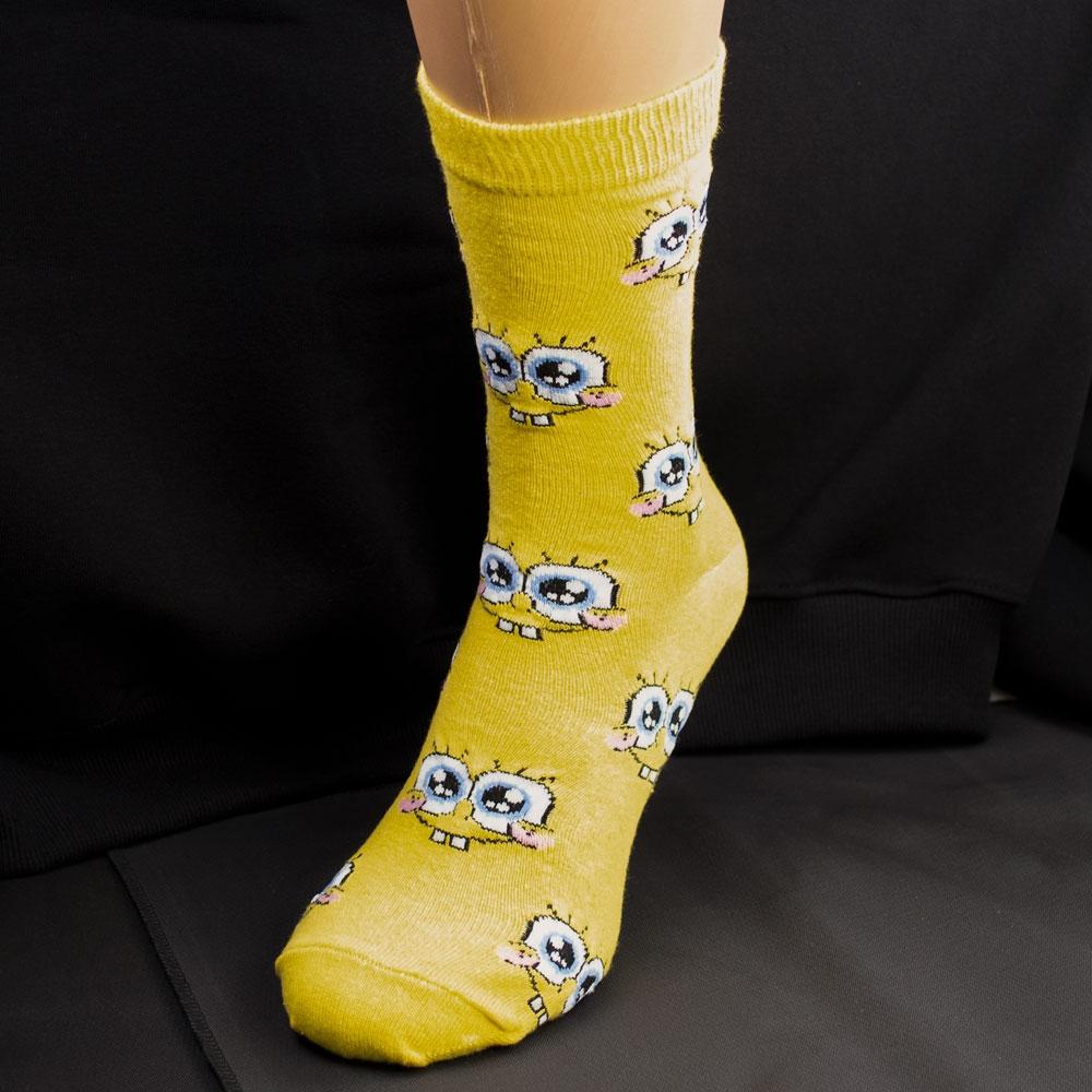 Носки SPONGE BOB желтые р38-42 0