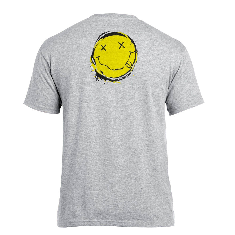 футболка NIRVANA Smiley меланжевая 0