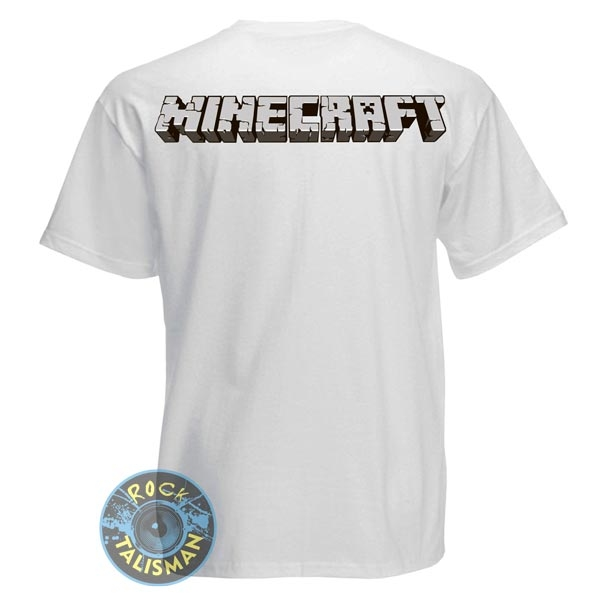 футболка MINECRAFT белая  0