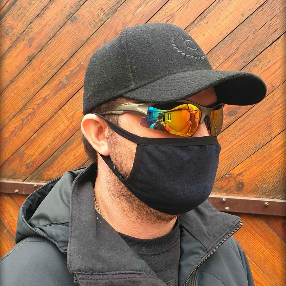 маска многоразовая черная 0