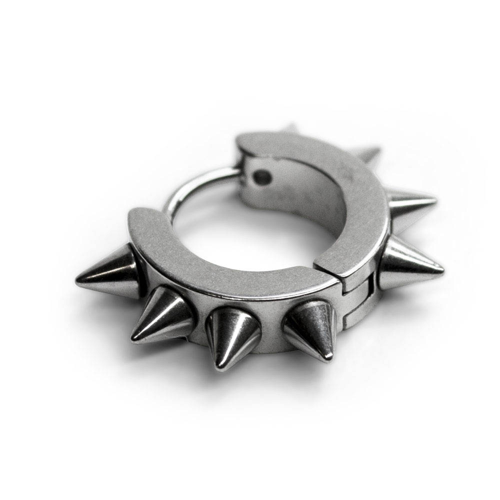 Серьга-кольцо SP-24 8 шипов 0