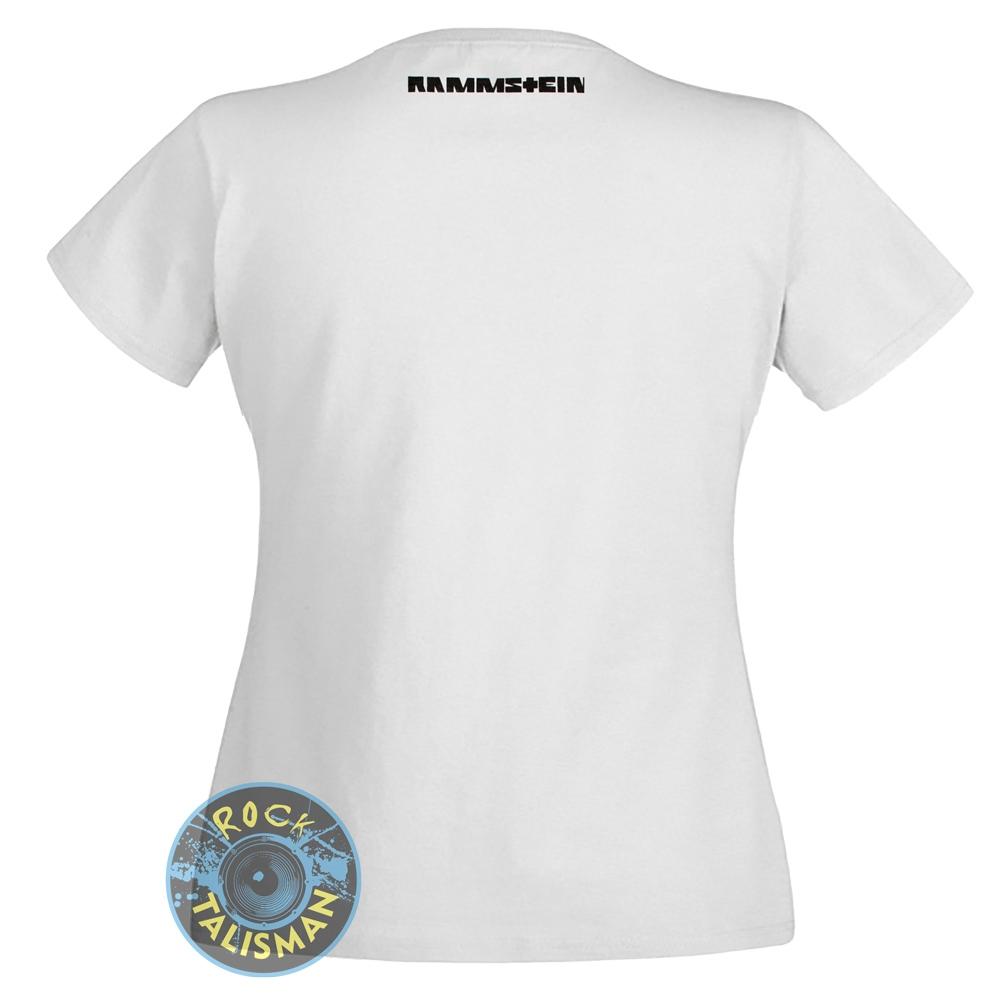 футболка женская RAMMSTEIN Deutschland белая 0