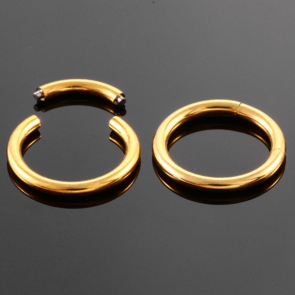 Кольцо сегментное (хир. сталь, золотистый) 0