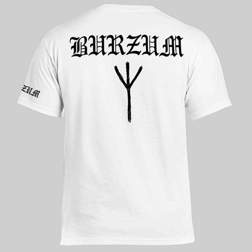 футболка BURZUM Anthology Varg Vikernes белая 0