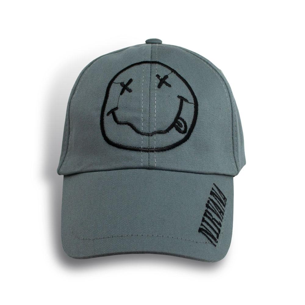 Бейсболка NIRVANA Smile серая 0