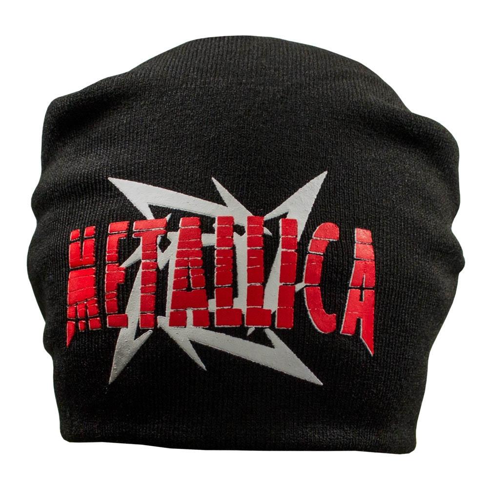 шапка бини с принтом METALLICA 2 звезда 0