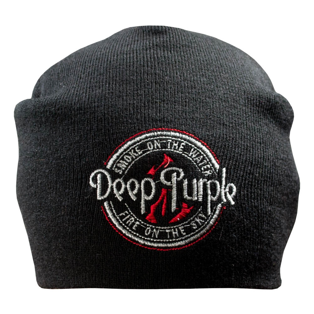 шапка бини с вышивкой DEEP PURPLE Logo 0