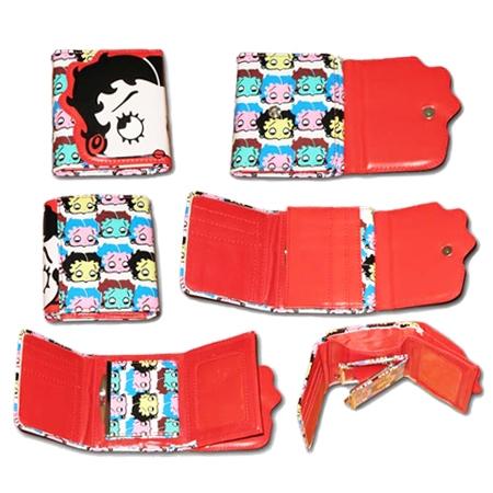 кошелек с рисунком BETTY BOOP (красный) 0