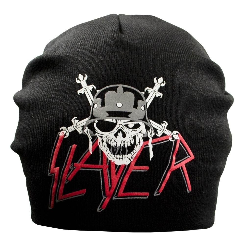шапка бини с принтом SLAYER 1 череп 0