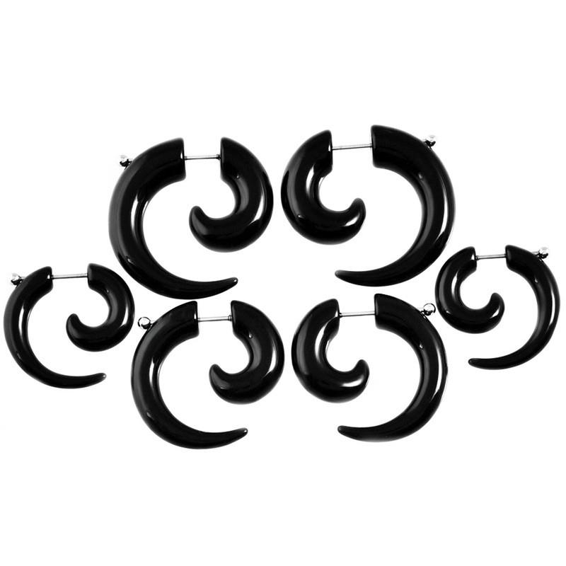 Фейк спираль акриловая черная 0