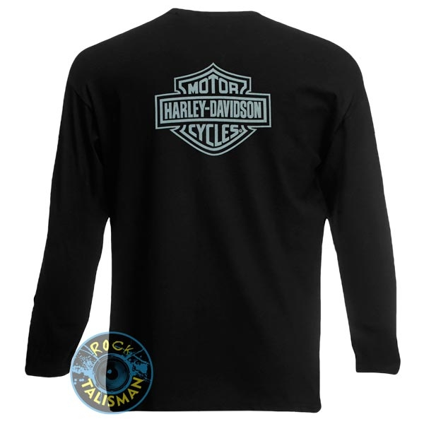 футболка длинный рукав HARLEY DAVIDSON  (череп)  0