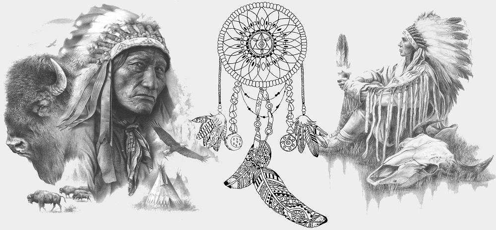 Чашка Индейские Вожди (ловец снов) 0