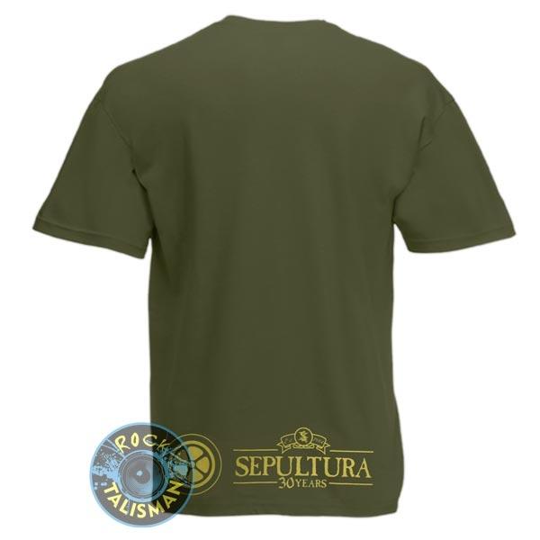 футболка SEPULTURA Roots Оливковая 0