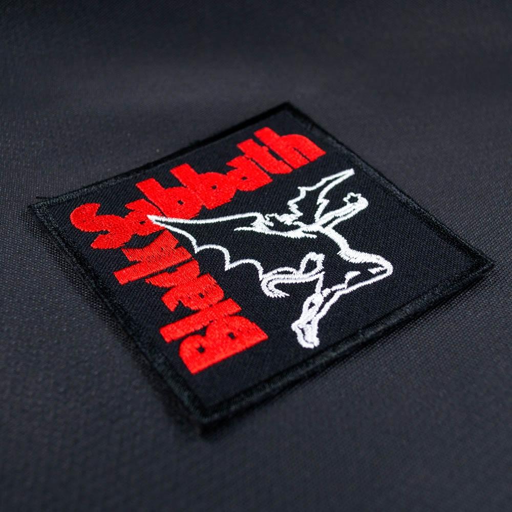 нашивка с вышивкой BLACK SABBATH 3 летящий демон 0