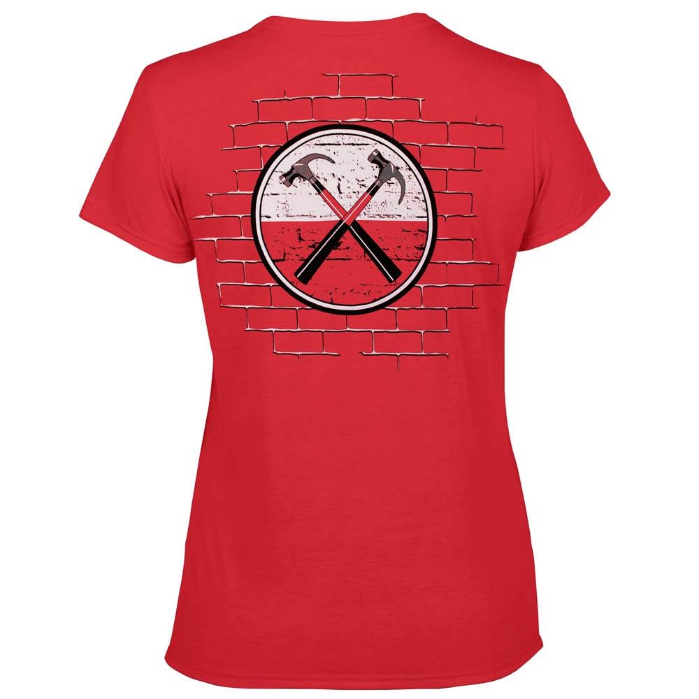 футболка женская PINK FLOYD The Wall красная 0