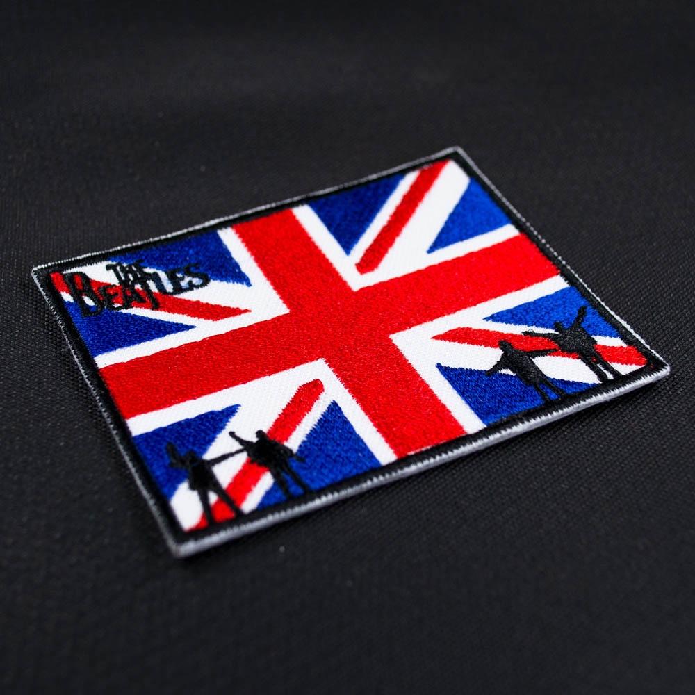 нашивка с вышивкой BEATLES 2 с британским флагом 0