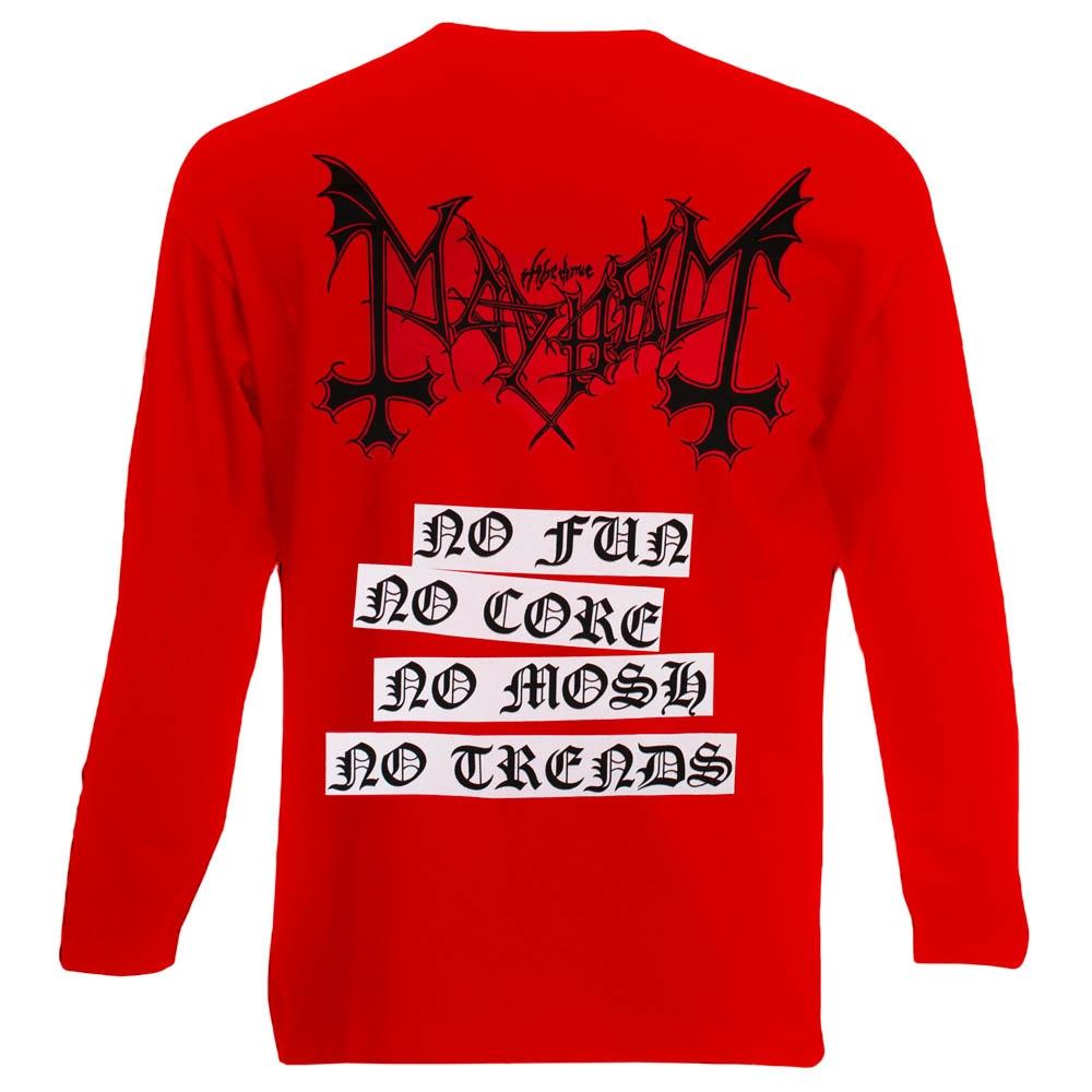 футболка длинный рукав MAYHEM Deathcrush красная 0