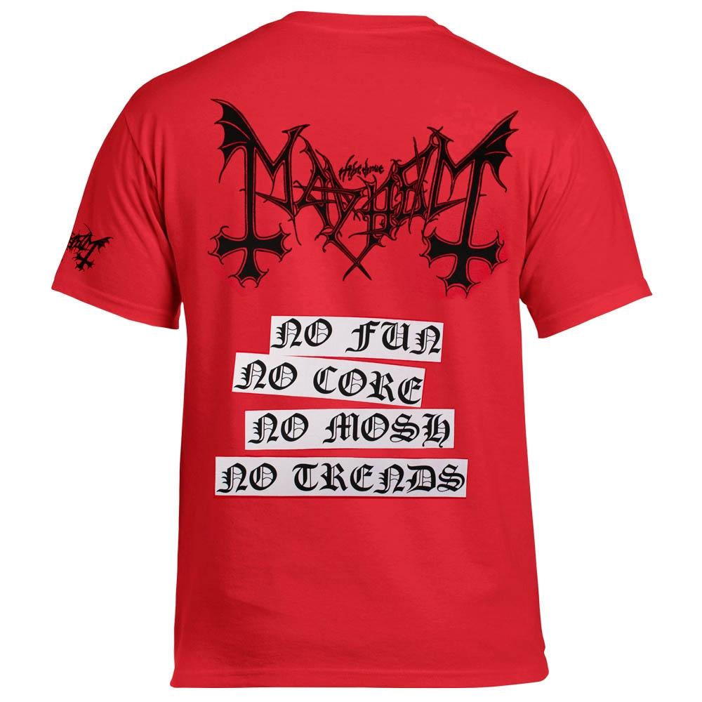 футболка MAYHEM Deathcrush красная 0