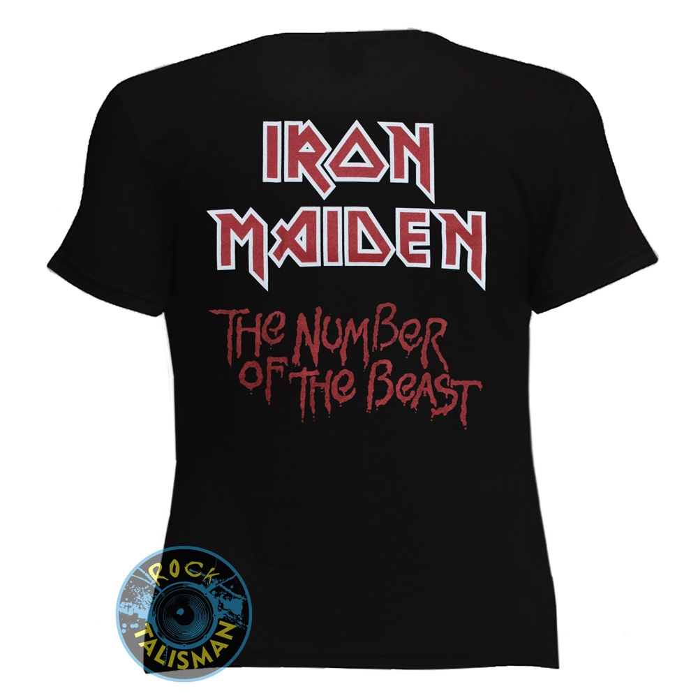 футболка женская IRON MAIDEN The Number Of The Beast 0