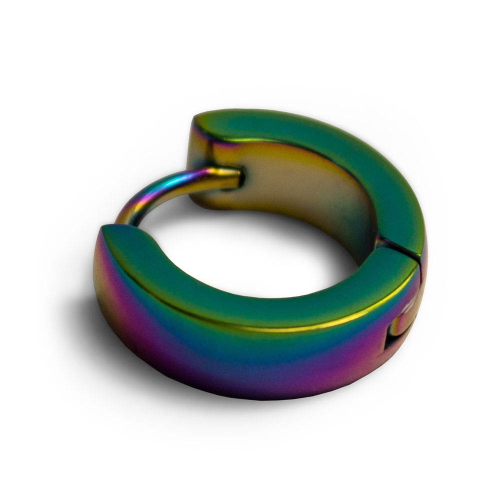 Серьга кольцо SK-03 без рисунка радужная 0