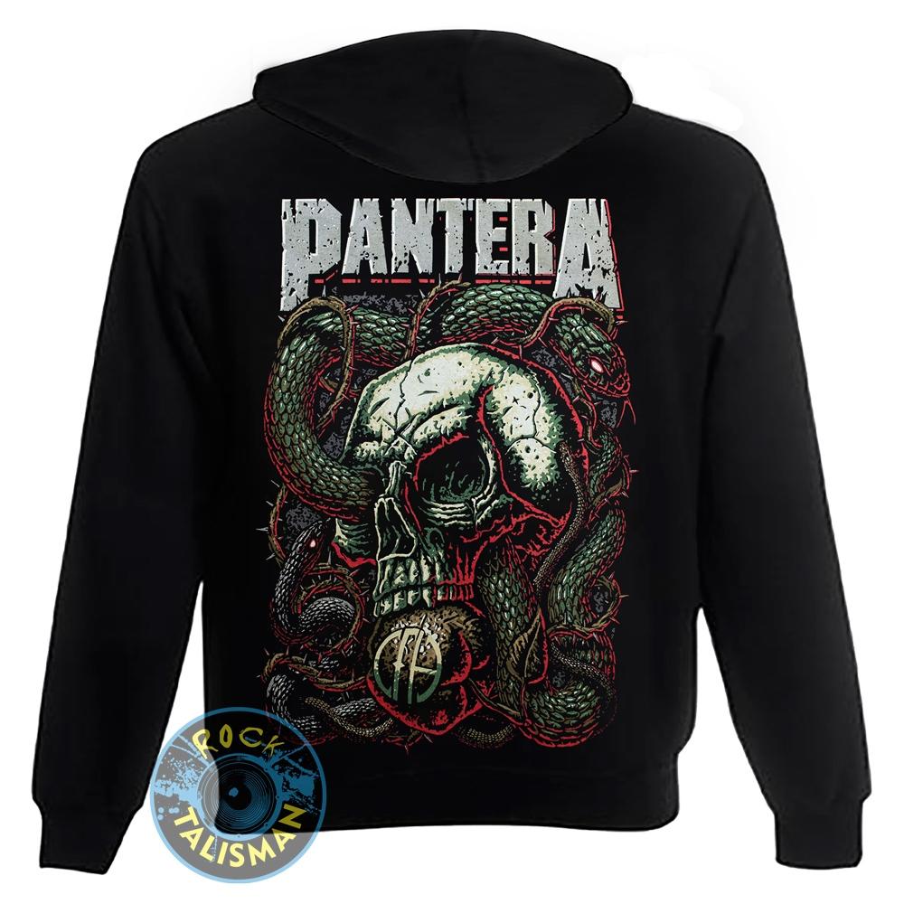 толстовка на змейке PANTERA Skull & Snake 0