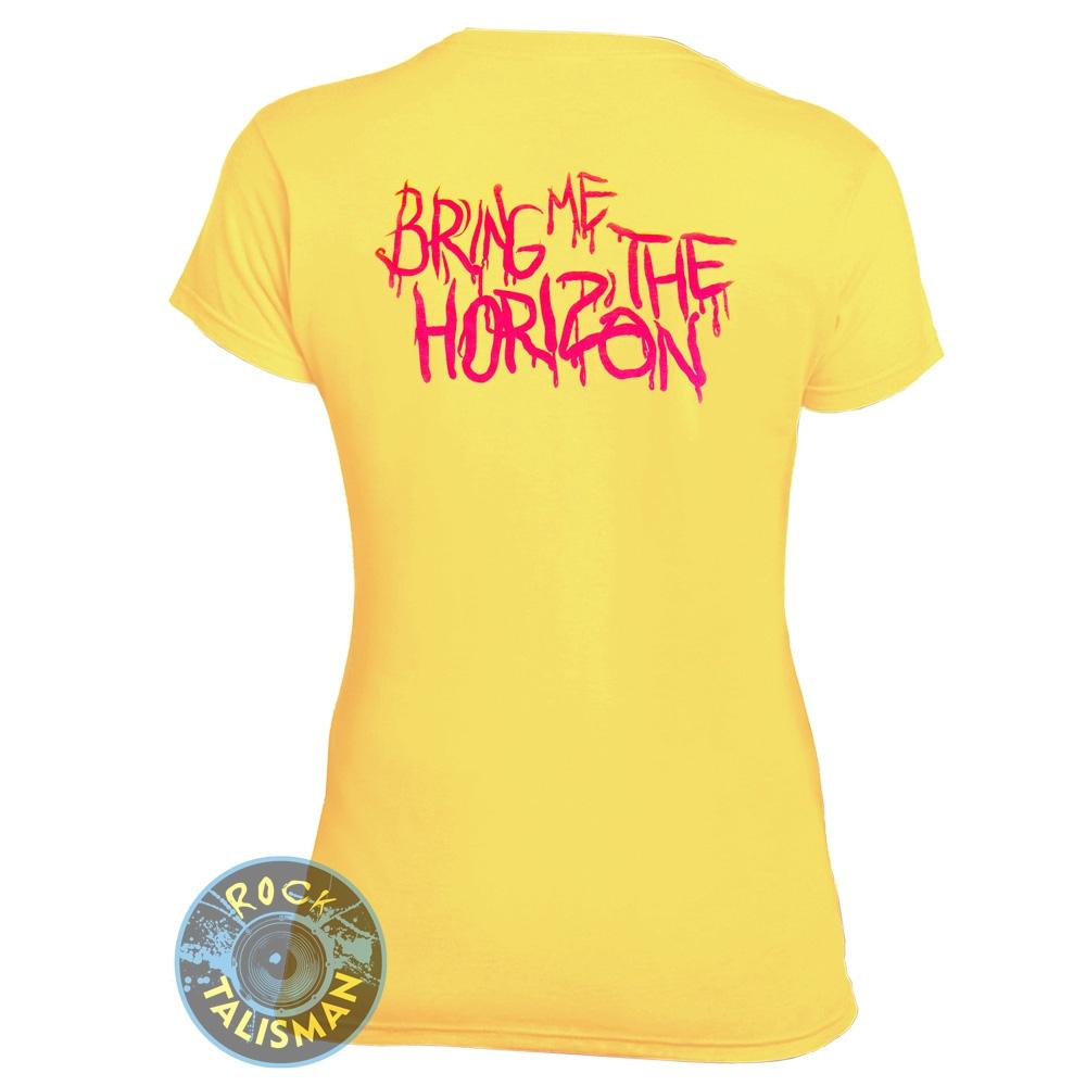 футболка женская  BRING ME THE HORIZON  желтая 0