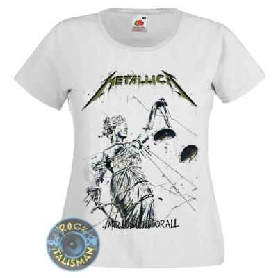 футболка женская METALLICA And Justice For All белая