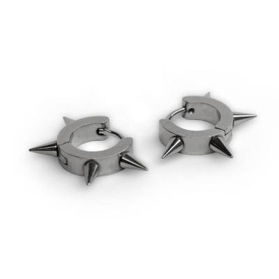 Серьга-кольцо SP-23 с шипами
