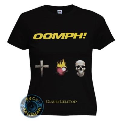 футболка женская OOMPH! GlaubeLiebeTod