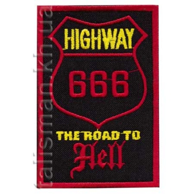 нашивка с вышивкой 666 The Road To Hell