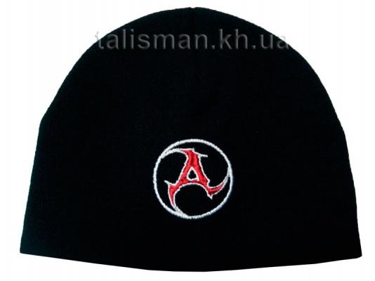 шапка зимняя вязаная с вышивкой AMATORY 1 лого