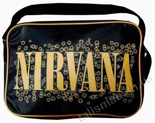 рок-сумка - NIRVANA-2 (слово+смайлы)