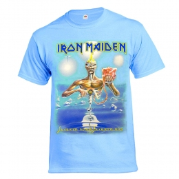 футболка IRON MAIDEN Seventh Son небесная