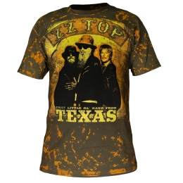 футболка ZZ TOP Texas full print