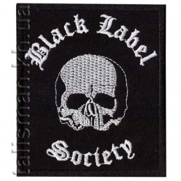 нашивка с вышивкой BLACK LABEL SOCIETY