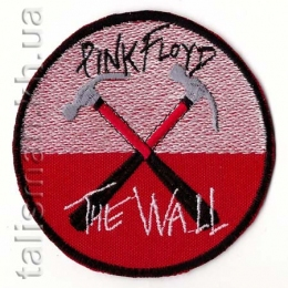 нашивка с вышивкой PINK FLOYD-3 The Wall, круг
