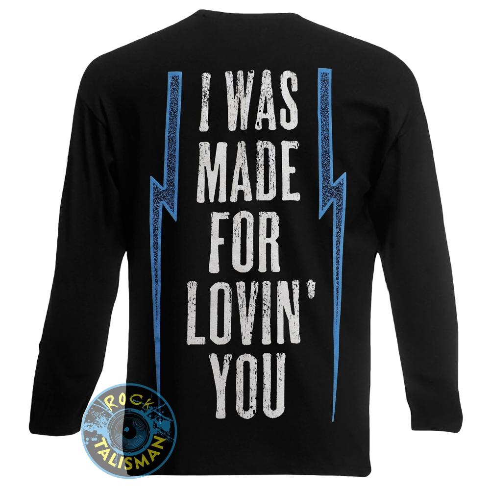 футболка длинный рукав KISS I Was Made For Lovin' You 0