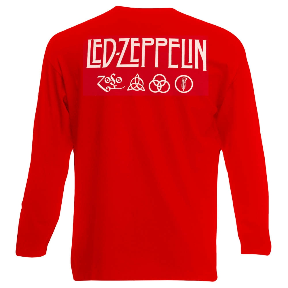 футболка длинный рукав LED ZEPPELIN Mothership красная 0