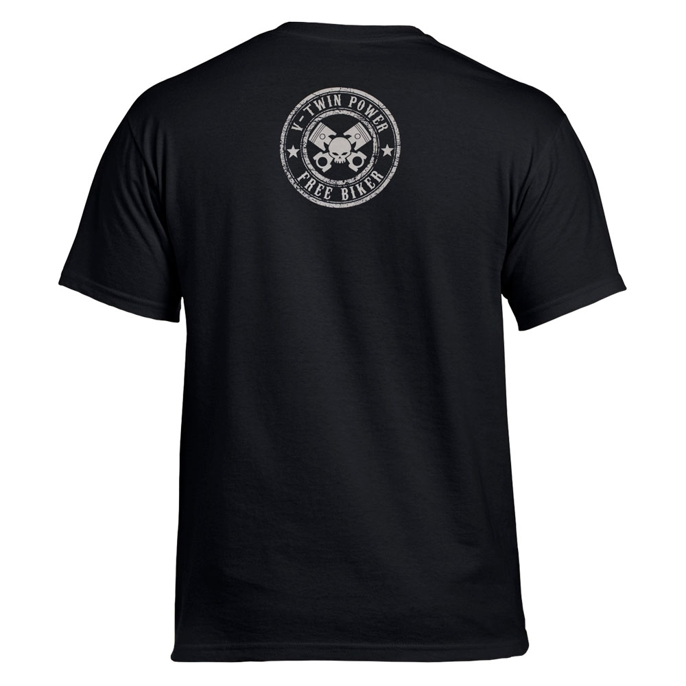 футболка FREE BIKER череп в шлеме 0