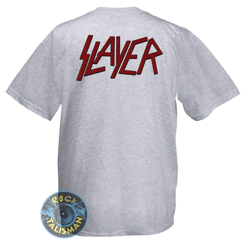 футболка SLAYER пентаграмма меланжевая 0