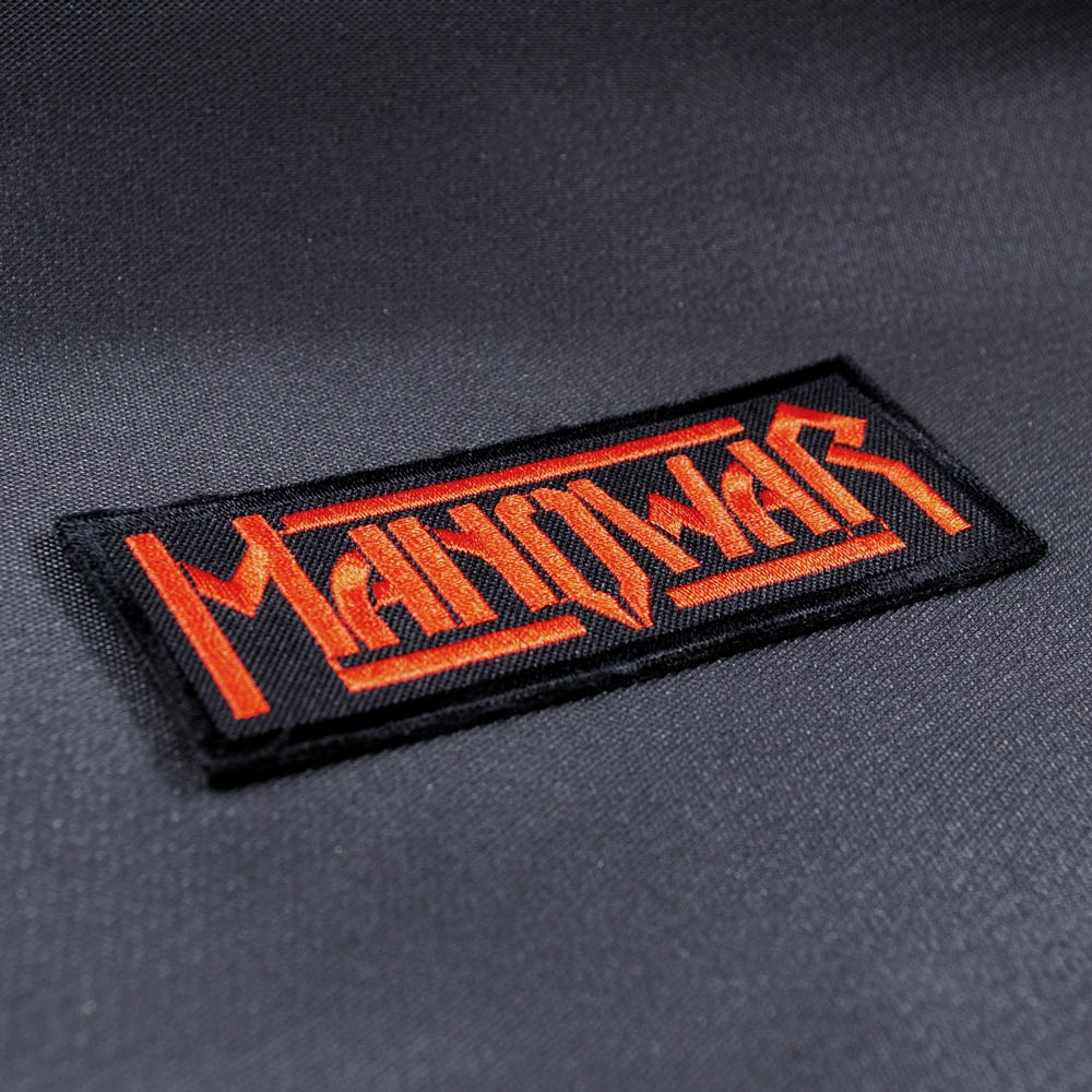 нашивка с вышивкой MANOWAR 3 Red Logo 0