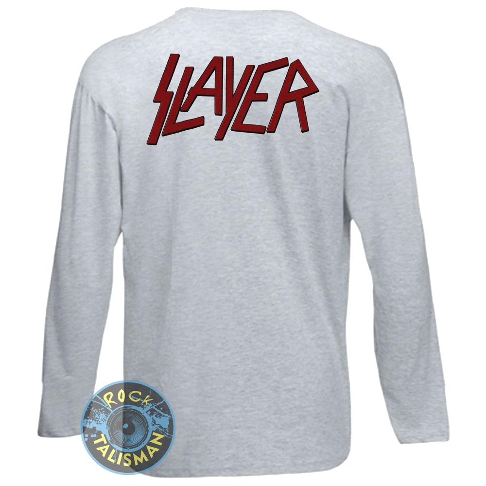 футболка длинный рукав SLAYER (пентаграмма) меланжевая 0