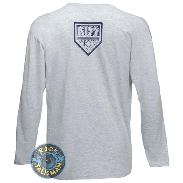 футболка длинный рукав KISS Kiss Army меланжевая  0