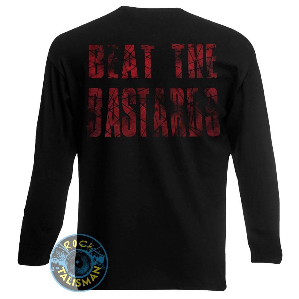 футболка длинный рукав EXPLOITED Beat the Bastards Skull 0