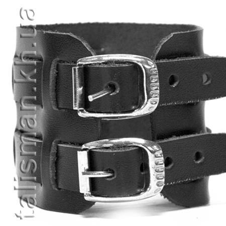 браслет кожаный BKВ-034 два ремешка