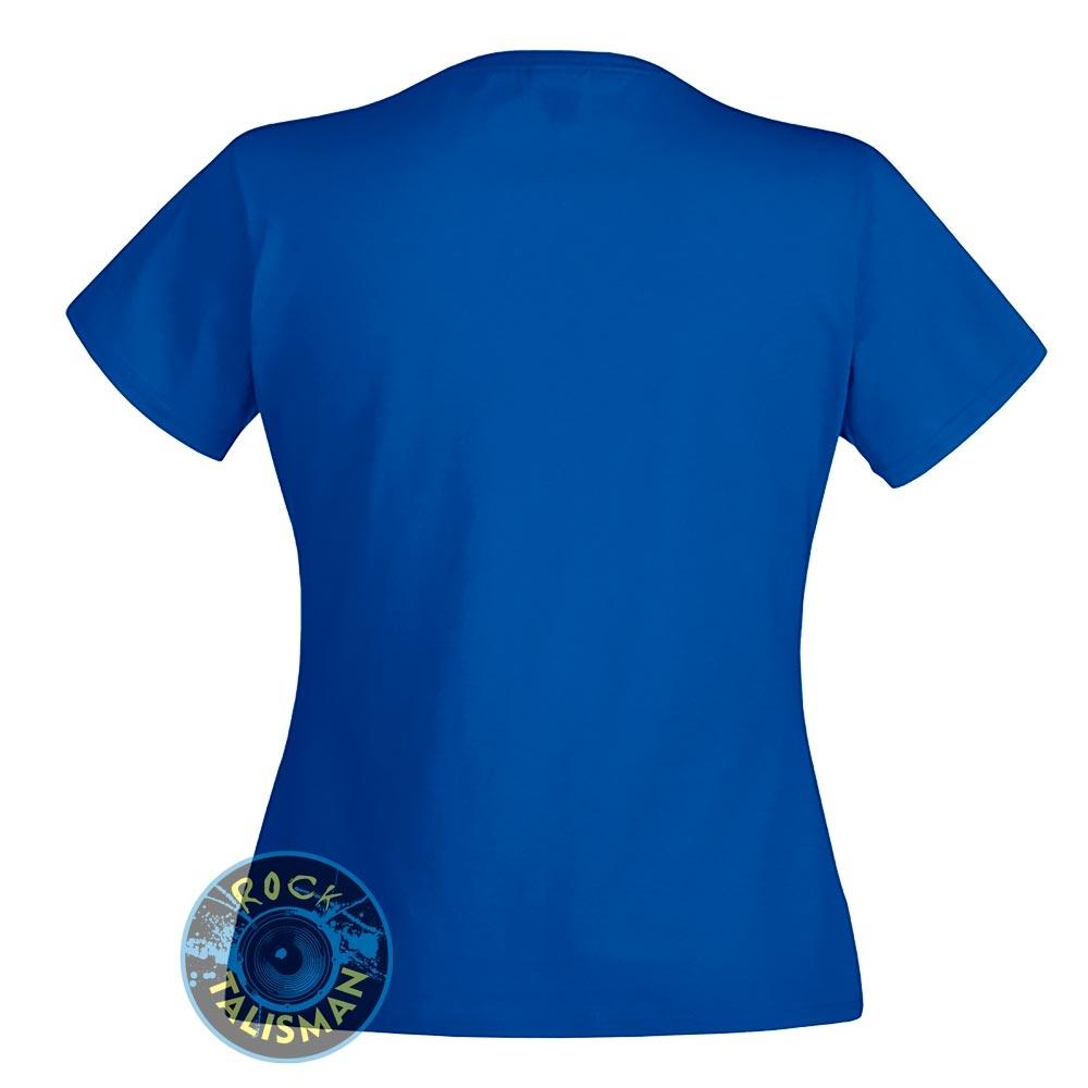 футболка женская ELECTRIC BLUES синяя 0