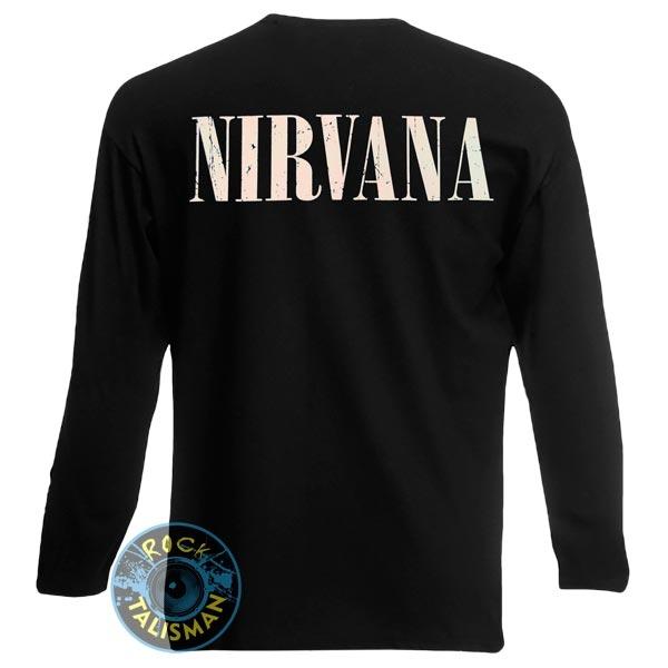 футболка длинный рукав NIRVANA (лого с гитарой)  0