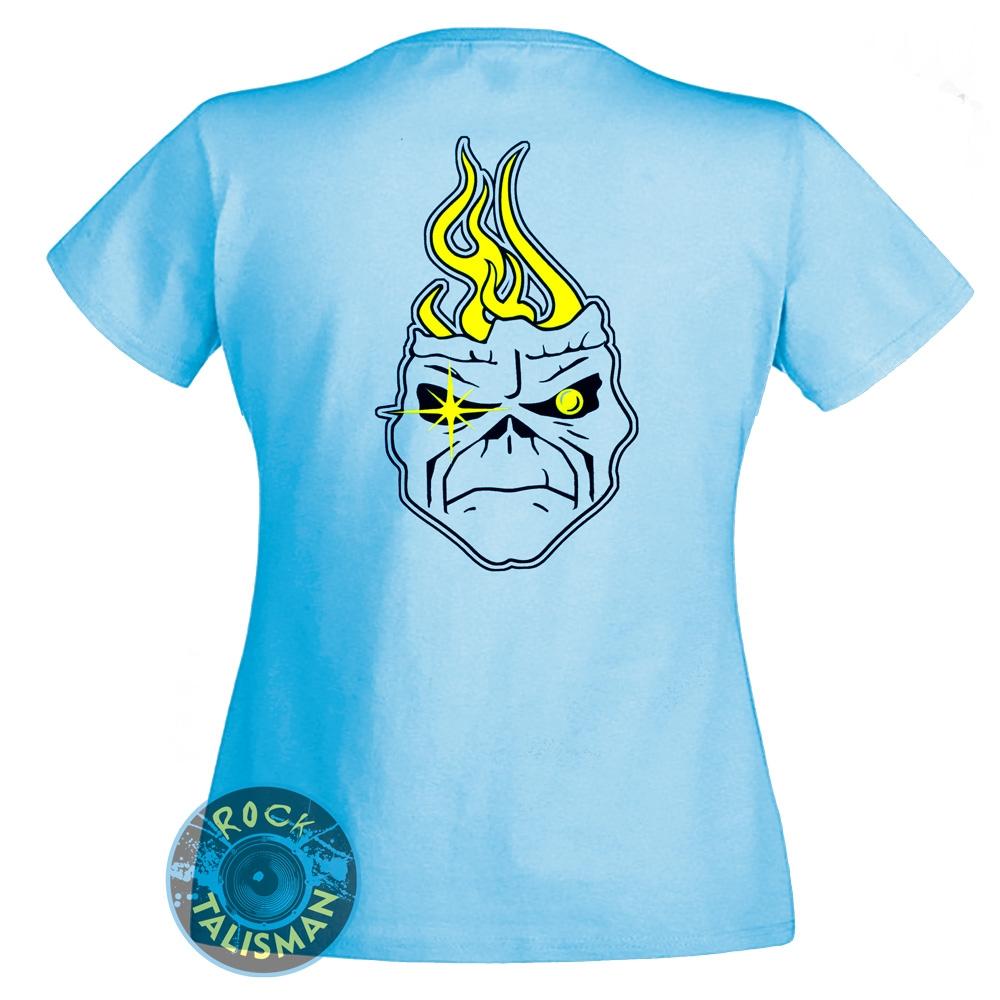 футболка женская IRON MAIDEN Seventh Son небесная 0